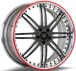 Custom Brush Rims And Mached Disc 20 Inch 2- Piece Forged Rims For Toyota Rims