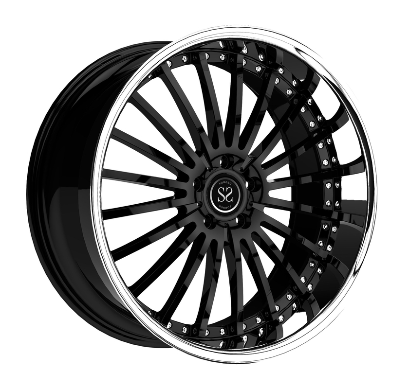 18 19 20 21 22  inch customize 2 piece forged negative offset offroad SUV wheel rim