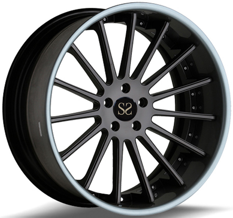 Matt BLack 19 Inch 2- Piece Forged Car Rims For Audi S7 Rims Made of 6061-T6 Aluminum Alloy