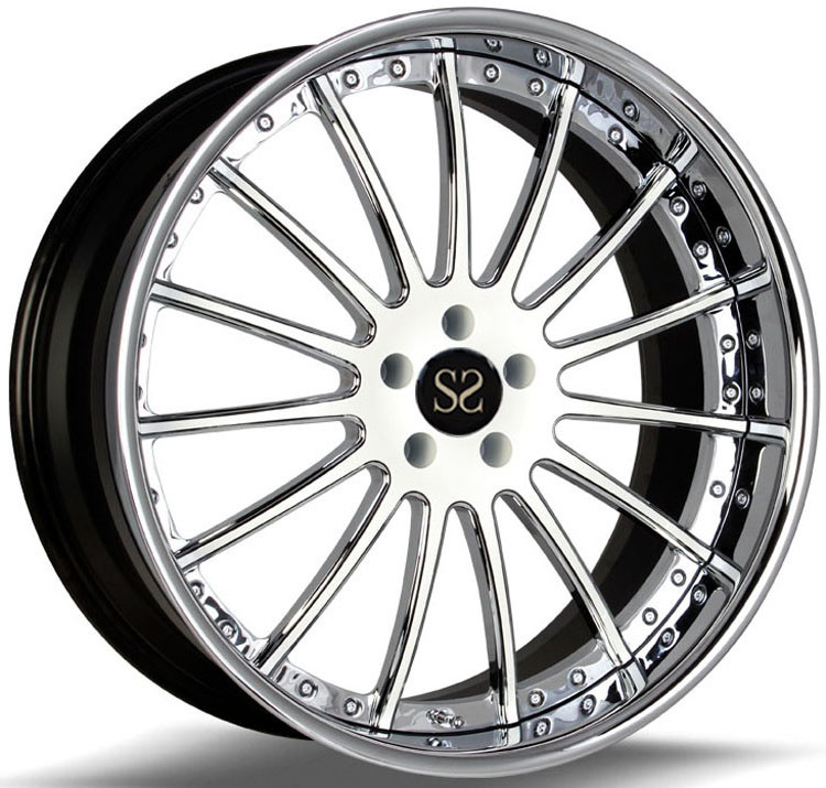 Custom Polish Gloss Black 20 Inch 2- Piece Alloy RIms For AMG RIms TUV Rims